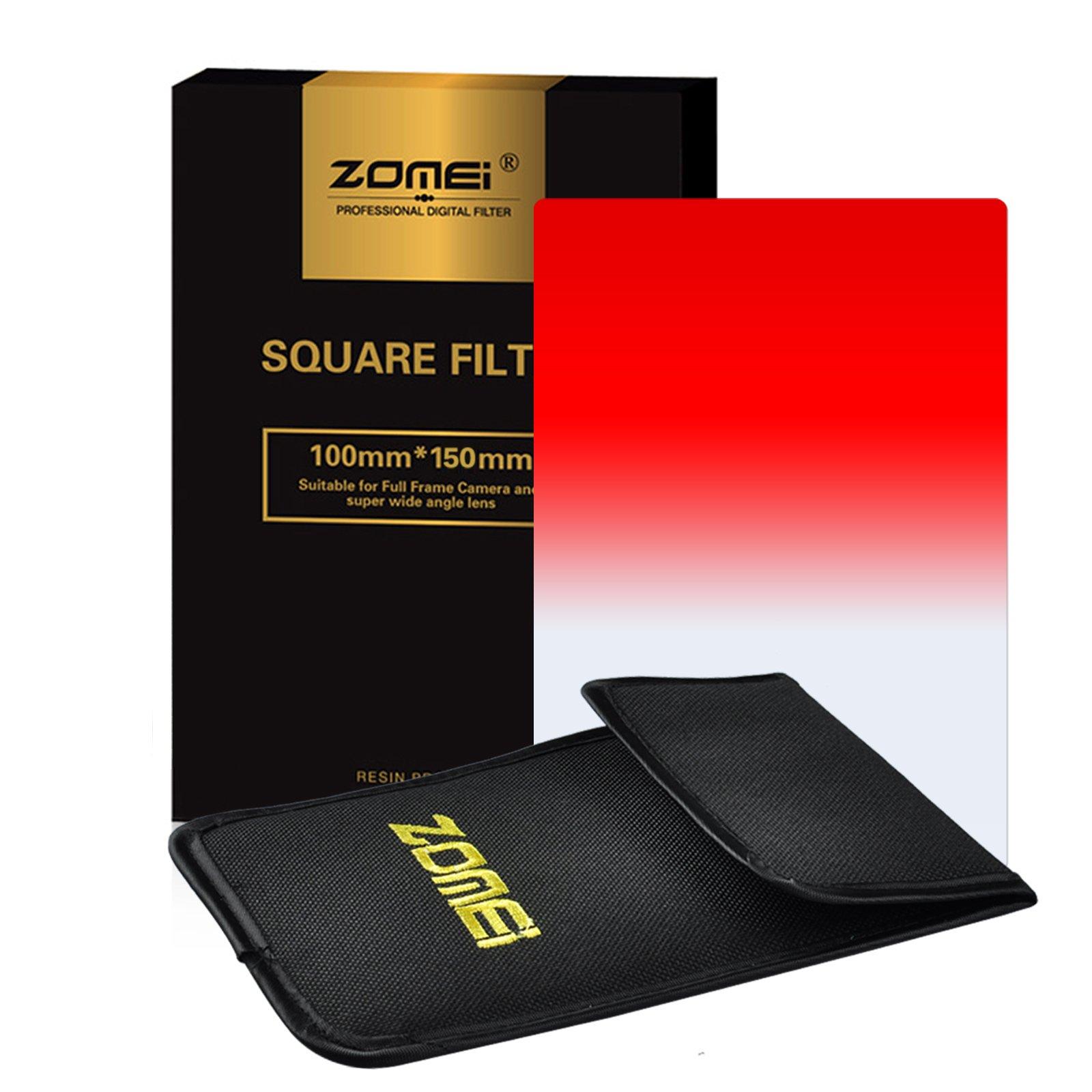 Zomei Gradual Red Square Z-PRO Series Filter for Cokin Z zomei Hitech 4X6'' Holder 150100 mm