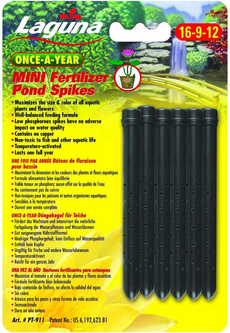 Laguna Once-A-Year Mini Fertilizer Spike, Aquatic Plant - 6-Pack