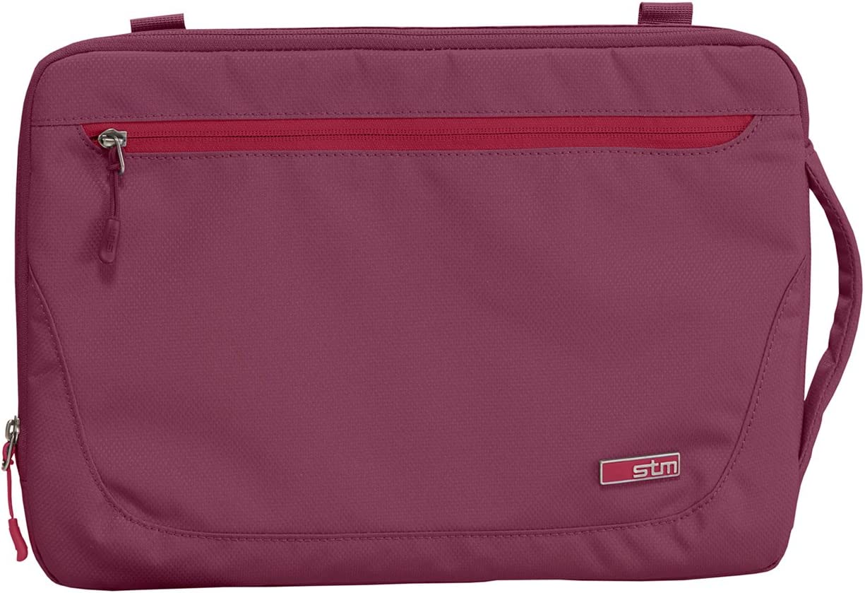 STM Blazer, Padded Sleeve for 11-Inch Laptop with Removable Carry Strap - Dark Red (stm-114-029K-40)