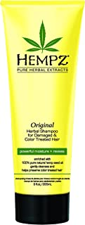 product image for Hempz Original Herbal Shampoo for Damaged and Color Treated Hair, Pearl Yellow, Floral/Banana, 9 Fluid Ounce