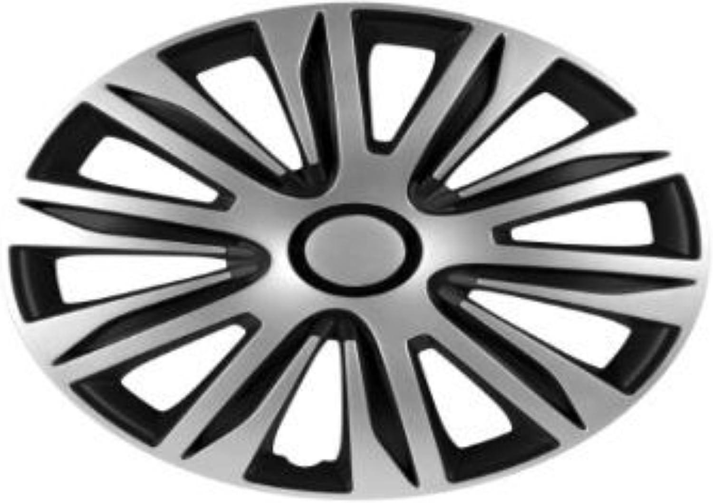 Zentimex Radzierblenden Radkappen Radabdeckung 15 Zoll 94 Silber Schwarz Abs Auto
