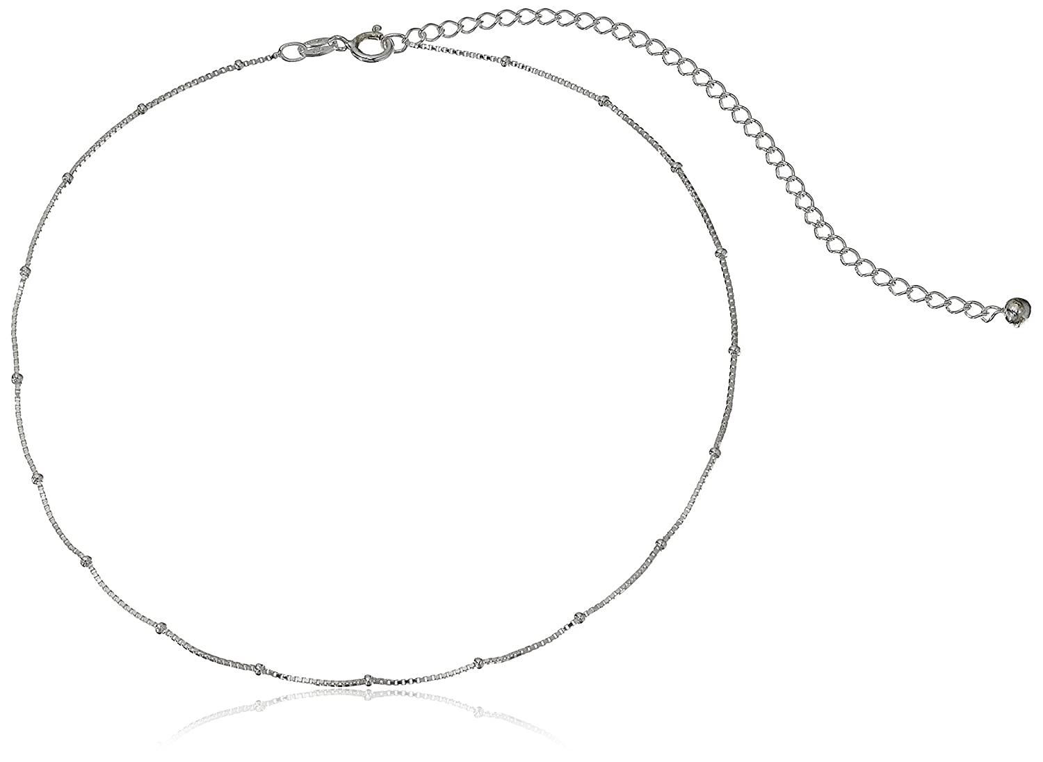 Sterling Silver Twisted Serpentine Chain Necklace (1.2 mm) 12 + 4 Extender Amazon Collection S13004-12E