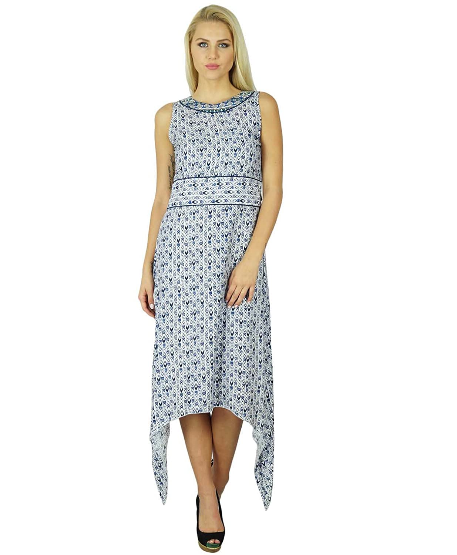 Bimba Frauen asymetrisches Kleid Lässige Kleidung Bohemian Summer Wear