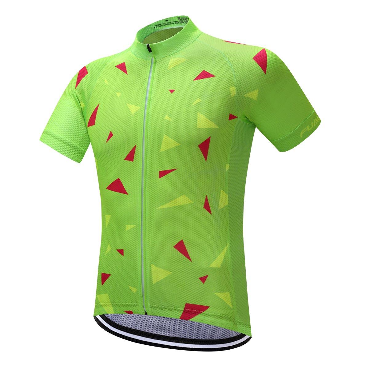 プランAクラシックブラックメンズシャツ夏サイクリングジャージー半袖自転車スポーツ服 B0745GXSMS 3L|GreenDS17 GreenDS17 3L