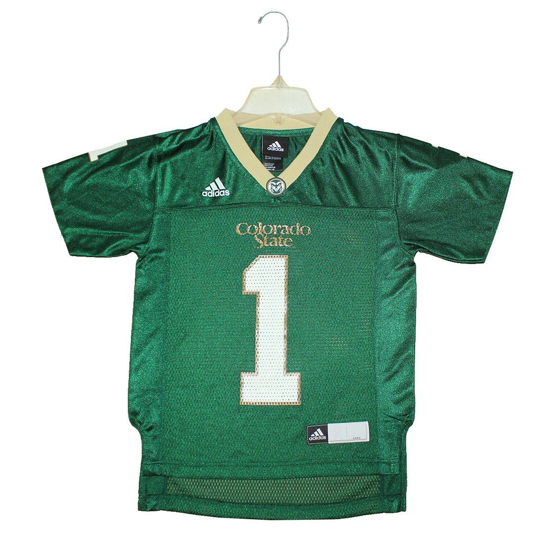 6b0f537f51a Amazon.com   Youth NCAA - COLORADO STATE RAMS  1 Short Sleeve Jersey S(8)  Green   Sports   Outdoors