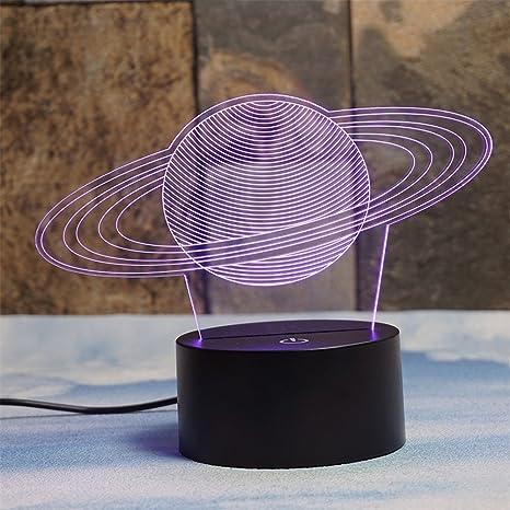 Deerbird® Saturno Anillos 3D espejismo 7 Color Cambiando Toque ...