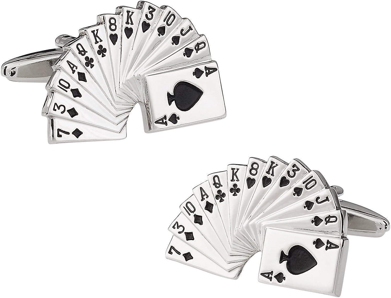 Cuff-Daddy Gambler Deck of Cards Cufflinks with Presentation Box