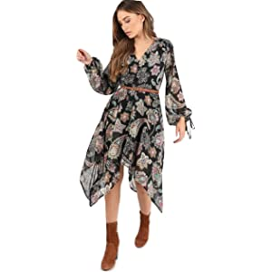 dee7c902b2fd Momo&Ayat Fashions Ladies Paisley Print Hankey Hem Midi Dress UK Size 8-14