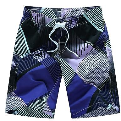 ce1a62523ef Brezeh Men Swim Shorts, Men's Beach Shorts Quick Dry Waterproof Swim Trunks  Board Shorts Beach