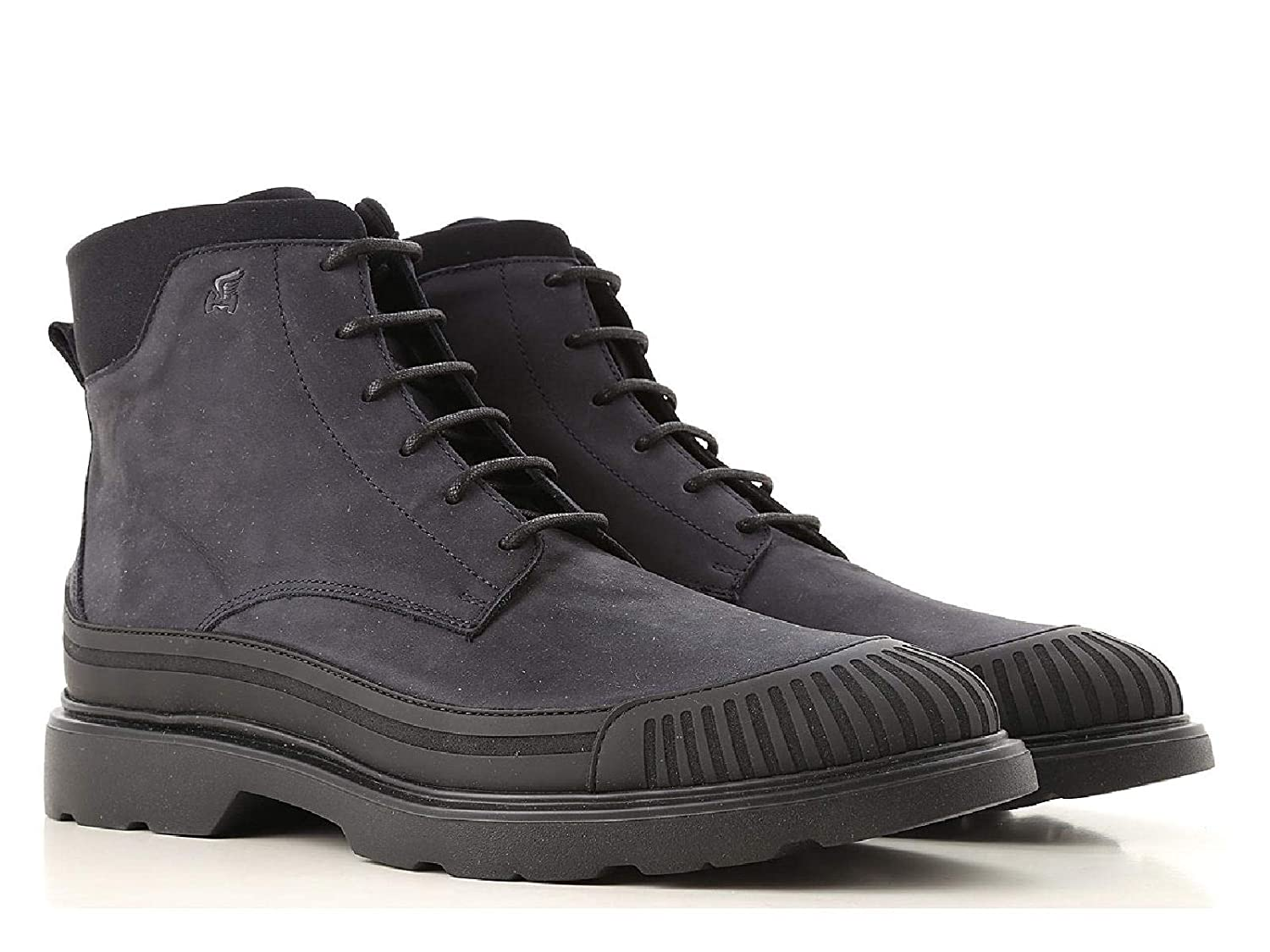 bluee Hogan Men's Leather Nubuck Low Boots shoes