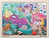 Melissa & Doug Mermaid Fantasea Wooden Jigsaw Puzzle With Storage Tray (48 pcs)