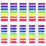 1400 Pieces Index Flags Arrow Tabs Colored Sticky Notes Writable Tabs for Page Marker, 10 Set, 7 Color