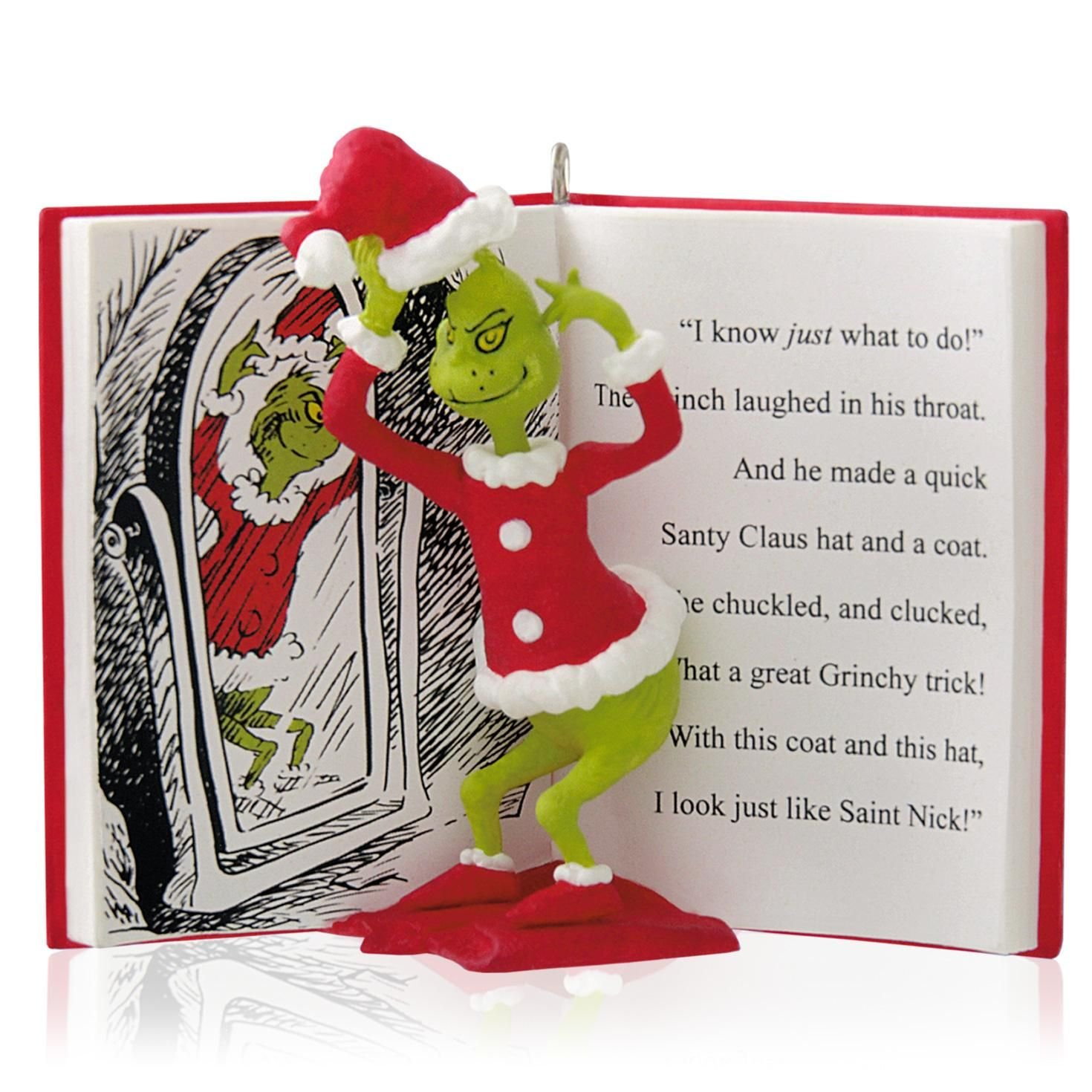 amazoncom hallmark 2014 the grinch in disguise ornament home kitchen - Grinch Christmas Decorations Amazon