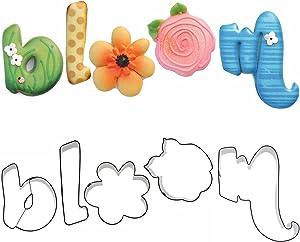 Bloom Flower Letters Cookie Cutter Set by Blyss Cookies