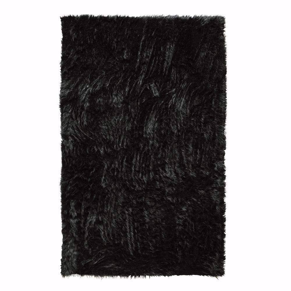 Black 3/'X5/' 5248210210 3X5 Home Decorators Collection Faux Sheepskin Area Rug