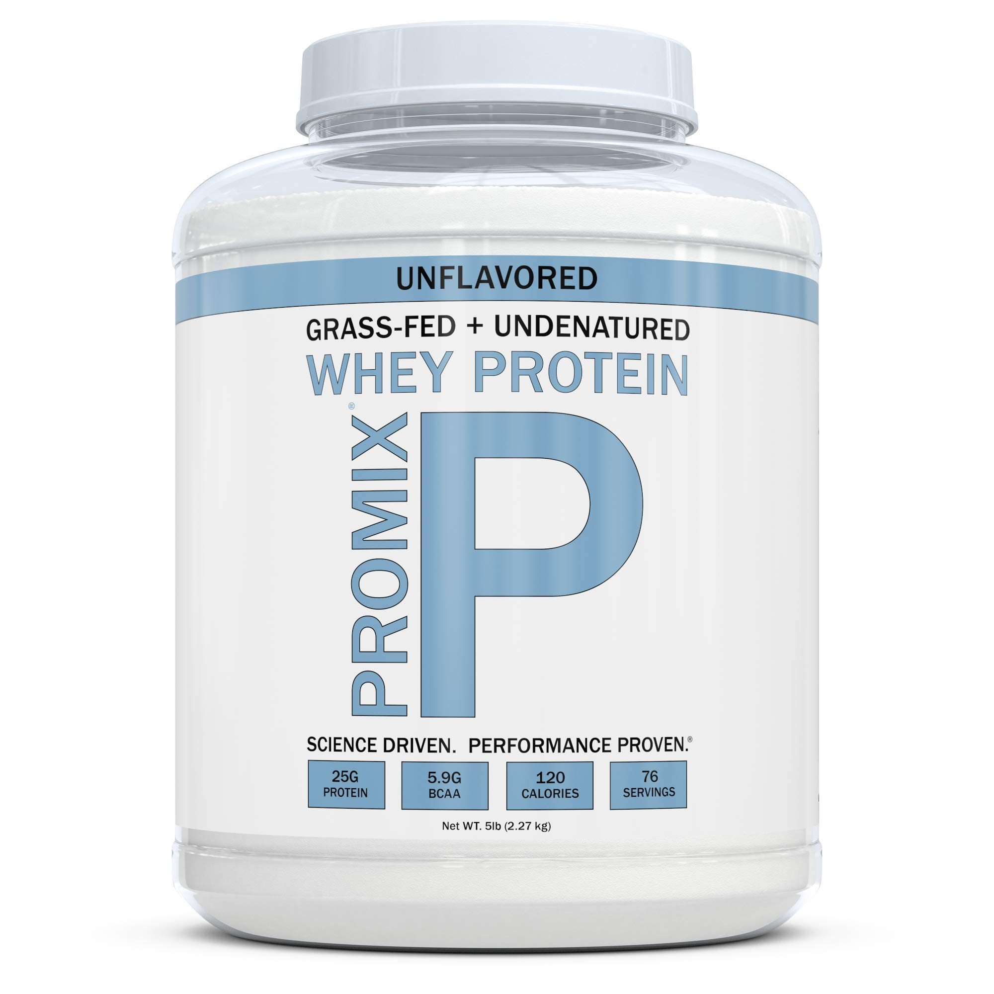 Grass Fed Whey Protein | 5lb | Unflavored Whey from California Cows | 100% Natural Whey | 2 Ingredients w/ No Sweeteners or Added Sugars | Non-GMO + Gluten Free + Preservative Free | Pure Promix_bulk by ProMix Nutrition (Image #1)