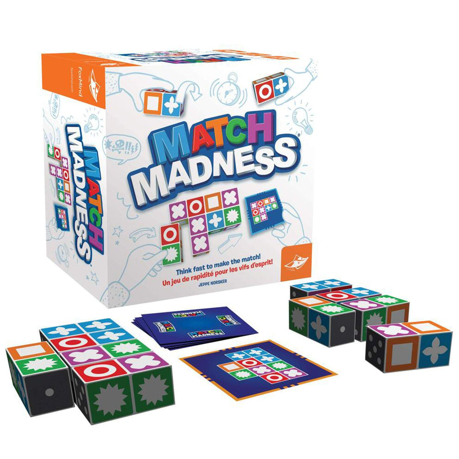 winnieindustries Match Madness Board Game, Children Matching Toys Intelligence Development Toy Kit, Card Game Tabletop Board Game for Kids Toddlers, for Ages 7 +
