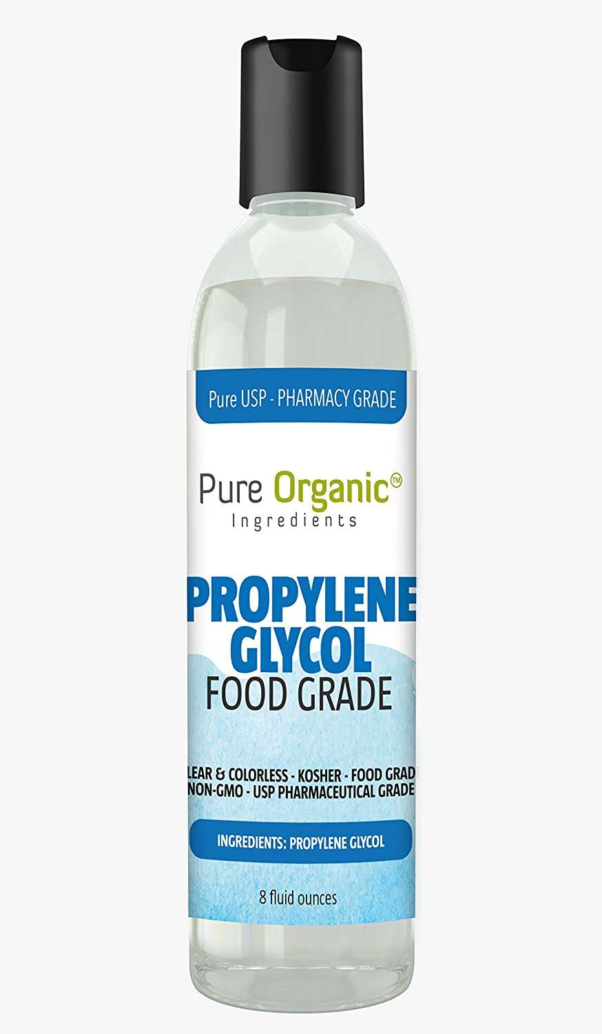 Propylene Glycol (8 oz.) by Pure Organic Ingredients, 100% Pure, Food & Pharmaceutical Grade, Hypoallergenic Moisturizer and Skin Cleanser