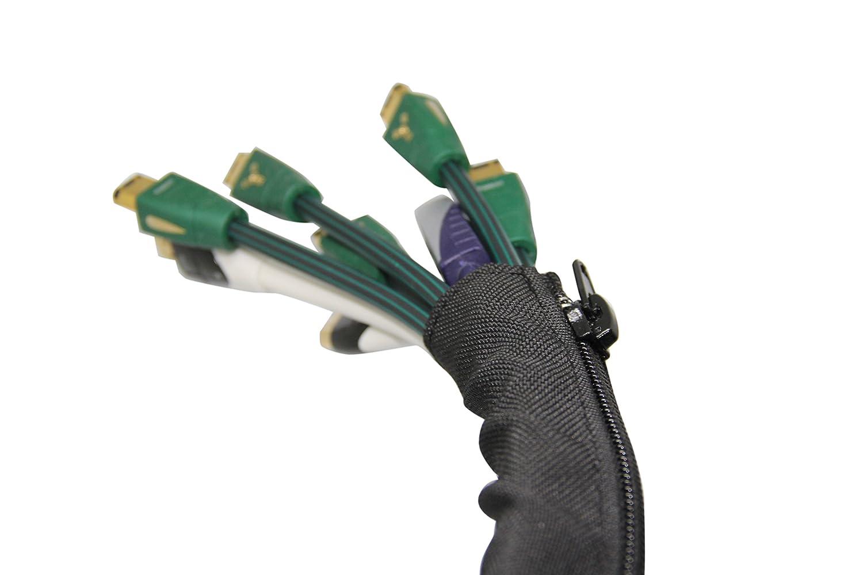 IGadget® Kabelmanagementsystem, 100% Polyester, abrieb-, staub- & hitzeBesteändig, hitzeBesteändig, hitzeBesteändig, für bis zu 8–10 Standard-Kabel, Schutz für Kinder und Haustiere, halogenfrei B06WGPJ9QC   Viele Sorten  7e012b