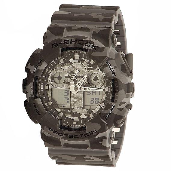 431212c2bc9b Amazon.com  Casio G-Shock Men s GA-100 Camouflage Watch