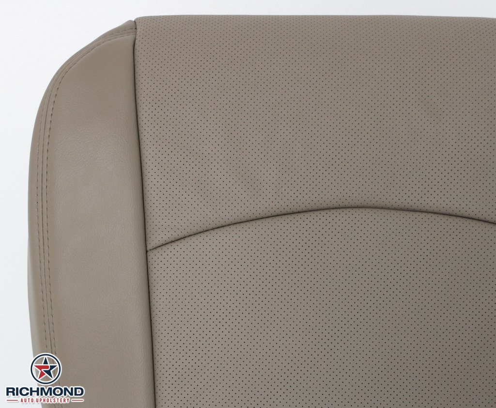 Richmond Auto Upholstery 2010 Dodge Ram 1500 Laramie Crew-Cab Tan Driver Side Perforated Bottom Replacement Leather Seat Cover