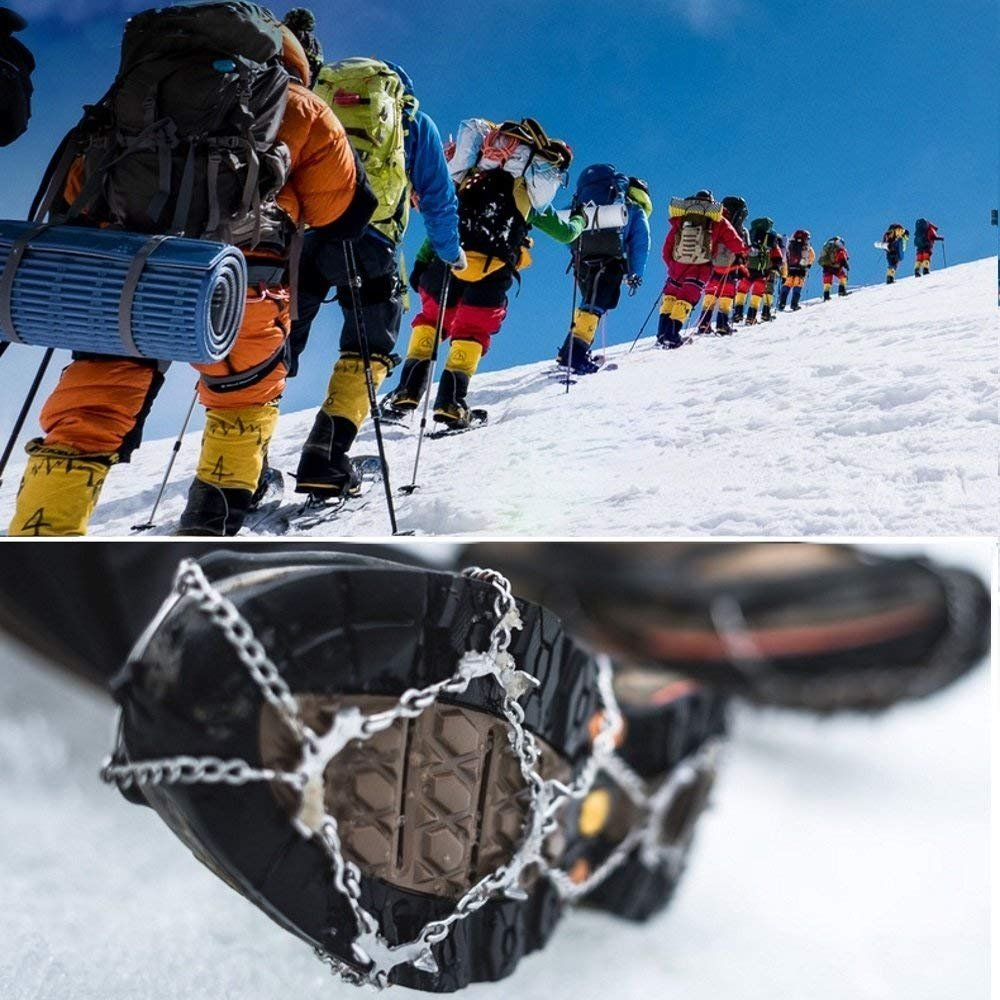 Ice Snow Grips Snow Traction Cleats with 12 Stainless Steel Spikes for Hiking On Ice/&Snow Ground,Mountain
