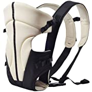 Kidsidol Ergonomic Baby Carrier Backpack Multifunctional Durable Adjustable Buckle Stick Suitable for Infant and Toddler Baby (Khaki)