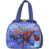 Bright Star Polyester Waterproof Printed School Lunch Tiffin Bag (Blue)