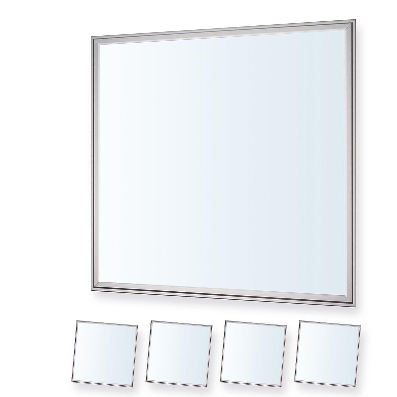 LEDVero 4er Set 60x60cm Ultraslim LED Panel dimmbar 36W, 3000lm, 6000K Deckenleuchte mit Befestigungsclips und EMV2016 Trafo -Kaltweiß- Energieklasse A+