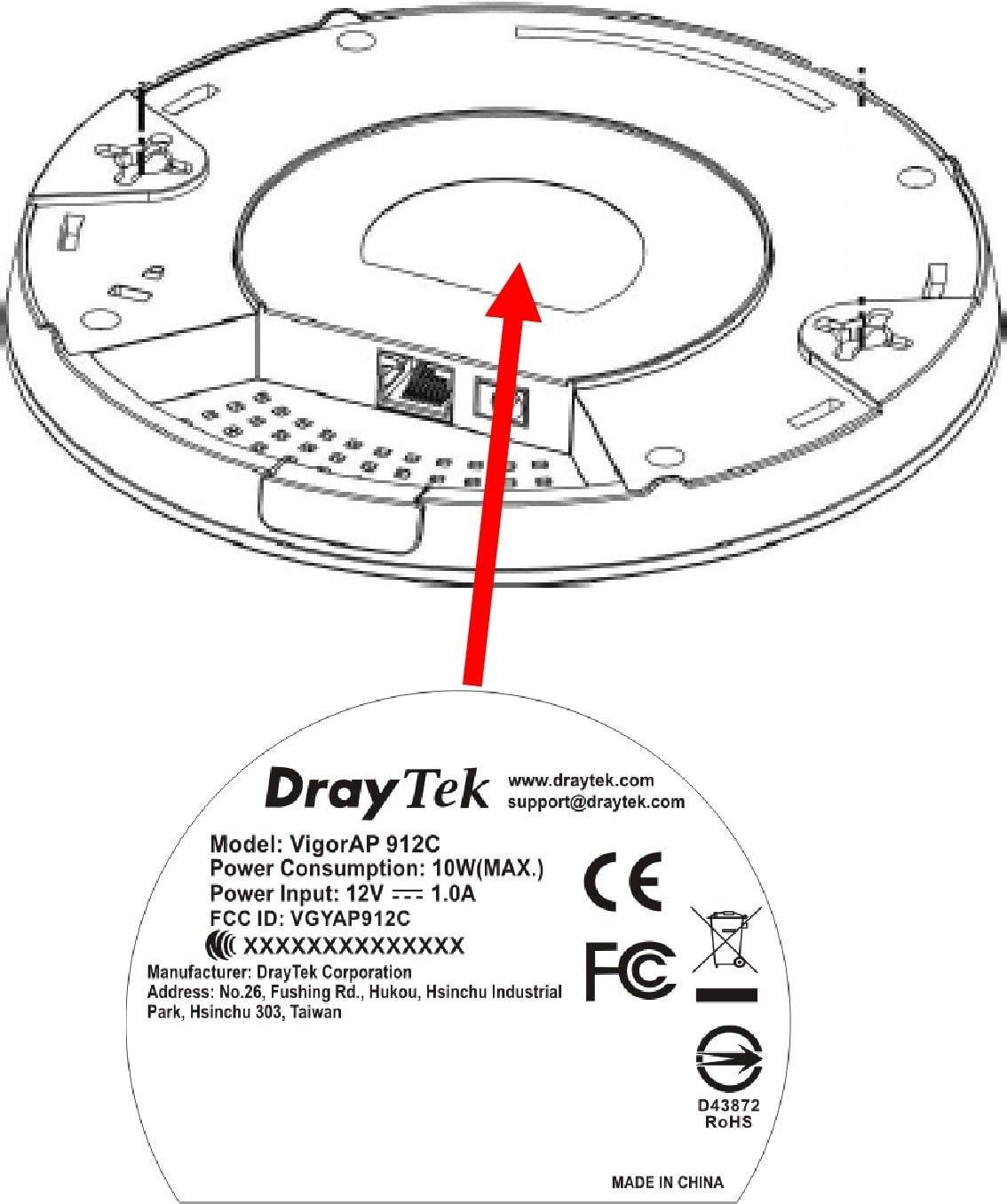 DrayTek VigorAP 912C Access Point