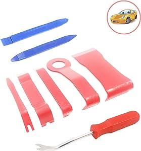 Konpard Car Panel Removal Tools Kit, 8Pcs Trim Removal Tool Kit for Car Audio Dash Door Panel Molding Fastener Remover