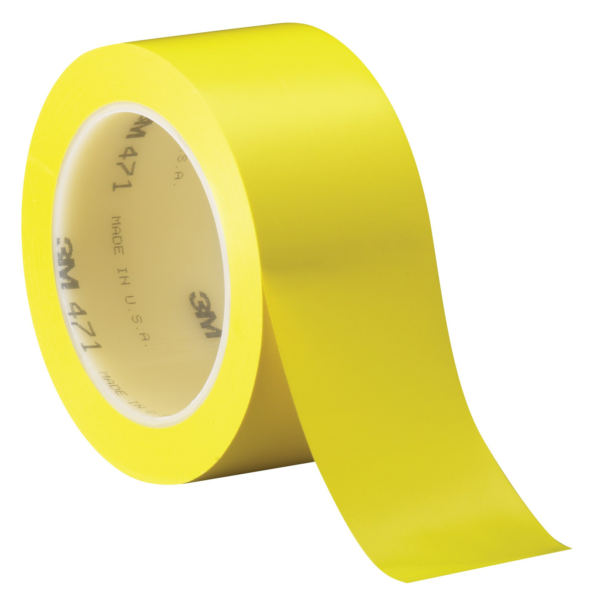 3M Vinyl Tape 471 Yellow, 2 in x 36 yd, Conveniently Packaged (Pack of 1)