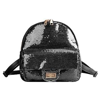 2a1736def5 AMAZING DEAL Glitter Sequins Mini Backpack Women Girls Teenager Travel  School Shoulder Handbags (Black)  Amazon.co.uk  Toys   Games