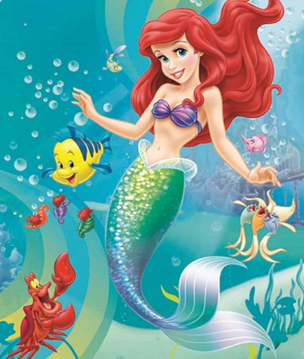 Disney Little Mermaid, Sebastian and Friends Twin Size Royal Plush Blanket - Gotta Sing