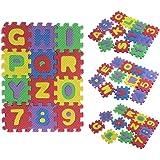 Tonsee® 36pcs (6*6cm/Pcs) Soft EVA Foam Baby Children Kids Spliced Play Mat Alphabet Number Puzzle Jigsaw
