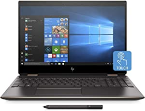 "HP Spectre x360 15t Convertible 2-in-1 Laptop in Dark Ash Silver (8th Gen Intel i7-8550U, 16GB RAM, 256GB SSD, Nvidia Geforce MX150, 15.6"" 4K UHD 3840x2160 Touchscreen, Stylus Pen, Win 10 Pro)"