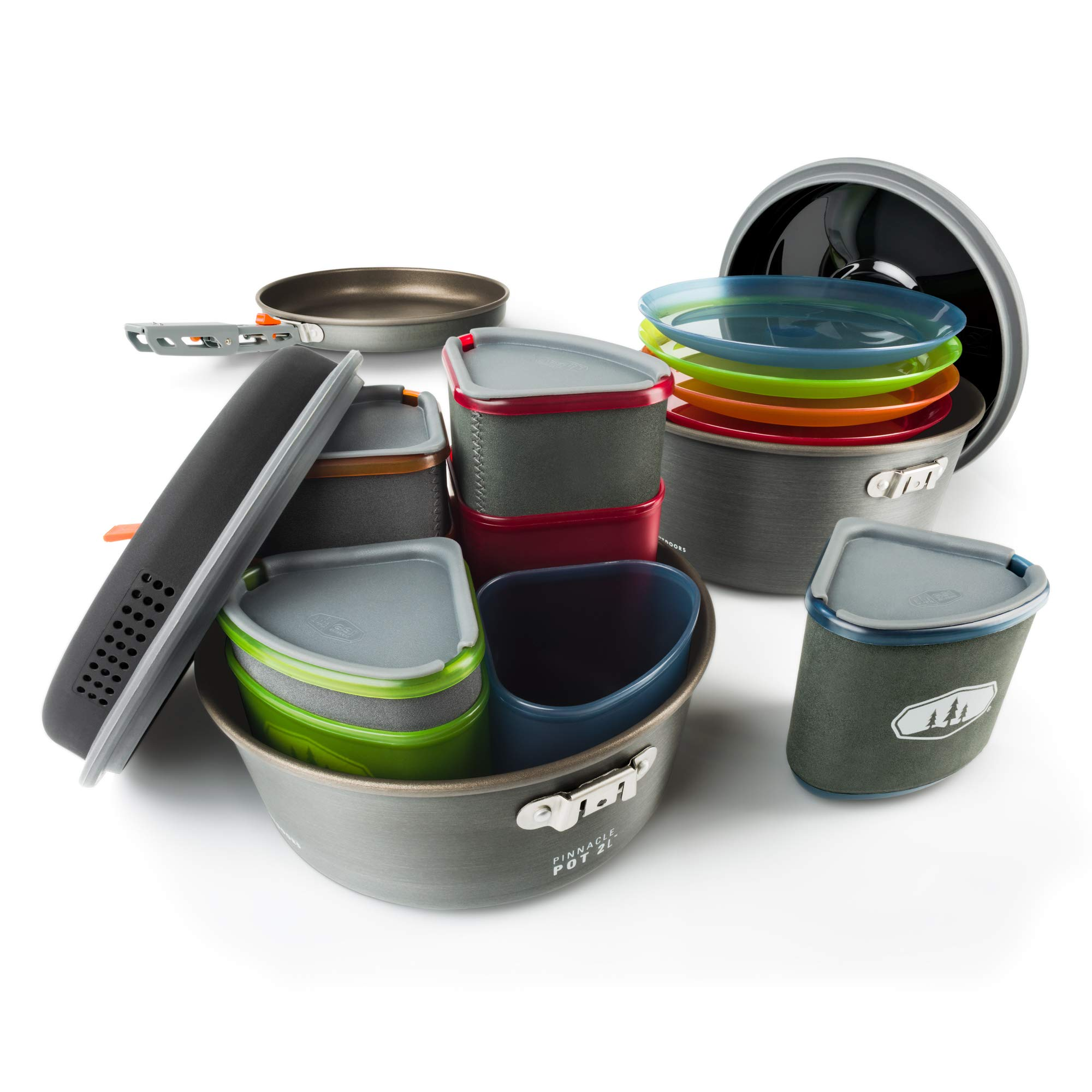 GSI Outdoors, Pinnacle Camper Cooking Set for Camping and Backpacking, 2 to 4 Person