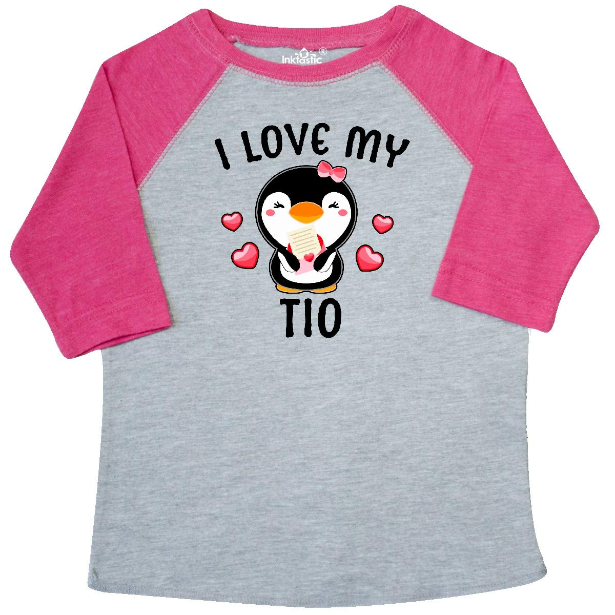 inktastic I Love My TIO with Cute Penguin and Hearts Toddler T-Shirt