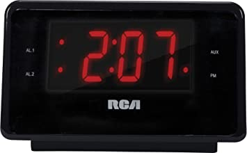 Audiovox RC127I Reloj Digital Negro - Radio (Reloj, Digital, iPhone,iPod,