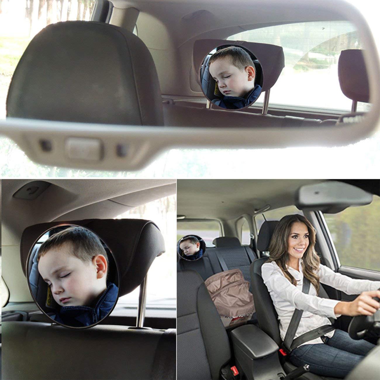 Elviray Auto Innenspiegel Auto Sicherheit Easy View R/ücksitz Verstellbarer Spiegel Baby Facing R/ückansicht Acryl Autozubeh/ör