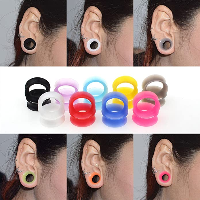 Amazon.com: Topbright - 9 pares de dilatadores de oreja ...