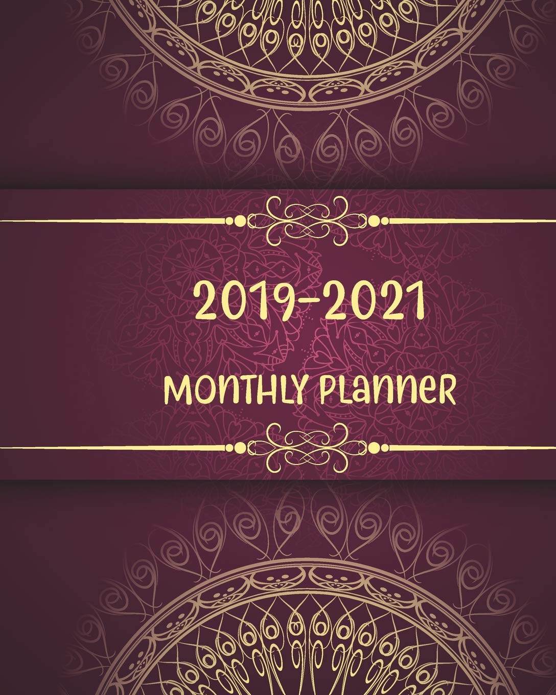 2019-2021 Monthly Planner: Beautiful Mandala Cover, Daily ...