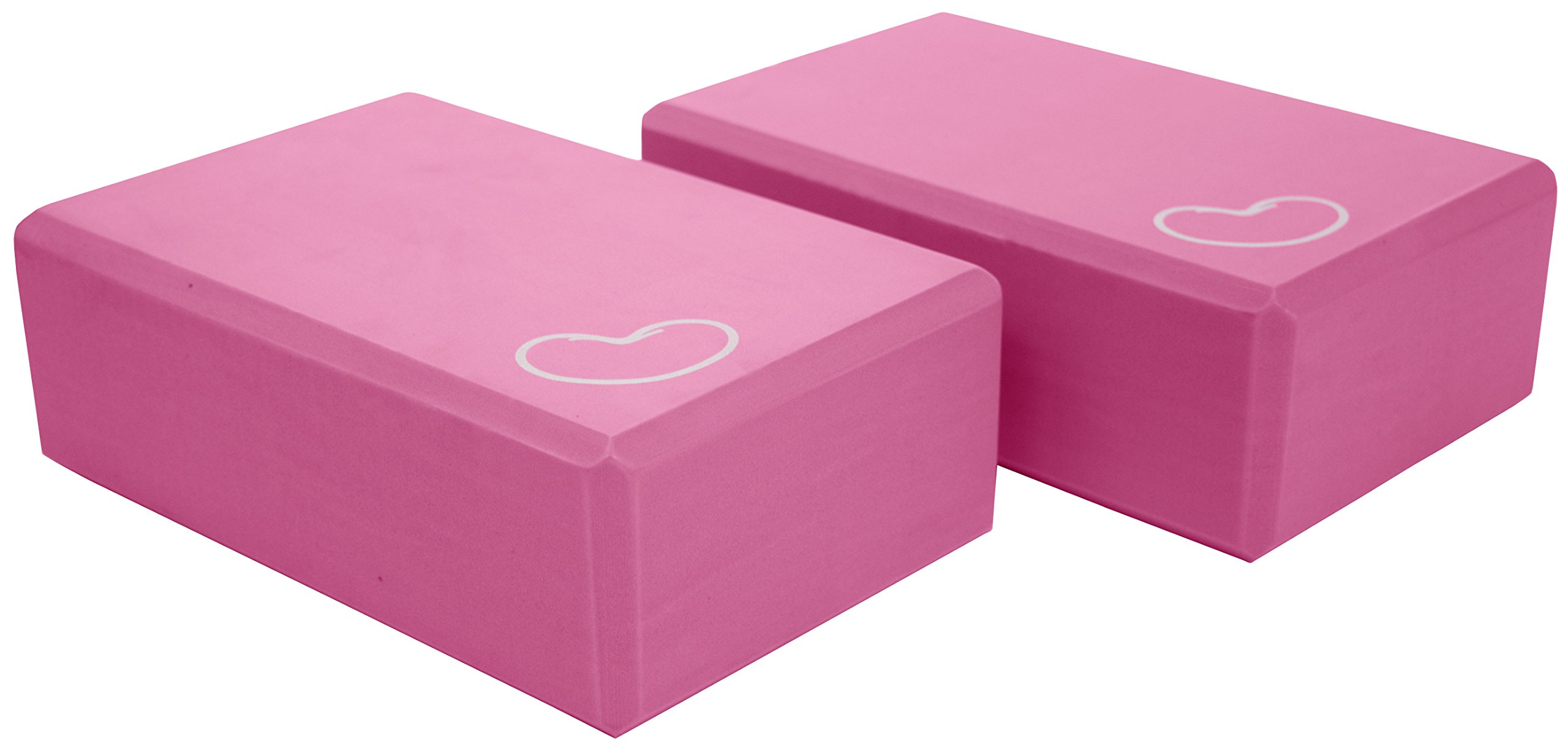 Bean Products Yoga Block 1 or 2 pack 3 in. x 6 in. x 9 in. Larger Size 4 colors by PINK - 2 Pack