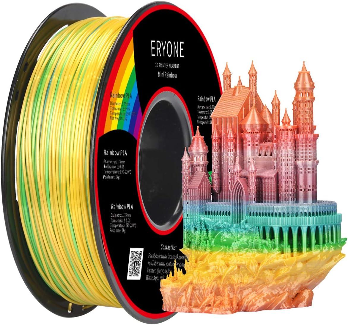 Eryone PLA Filament 1.75mm Rainbow Multicolore