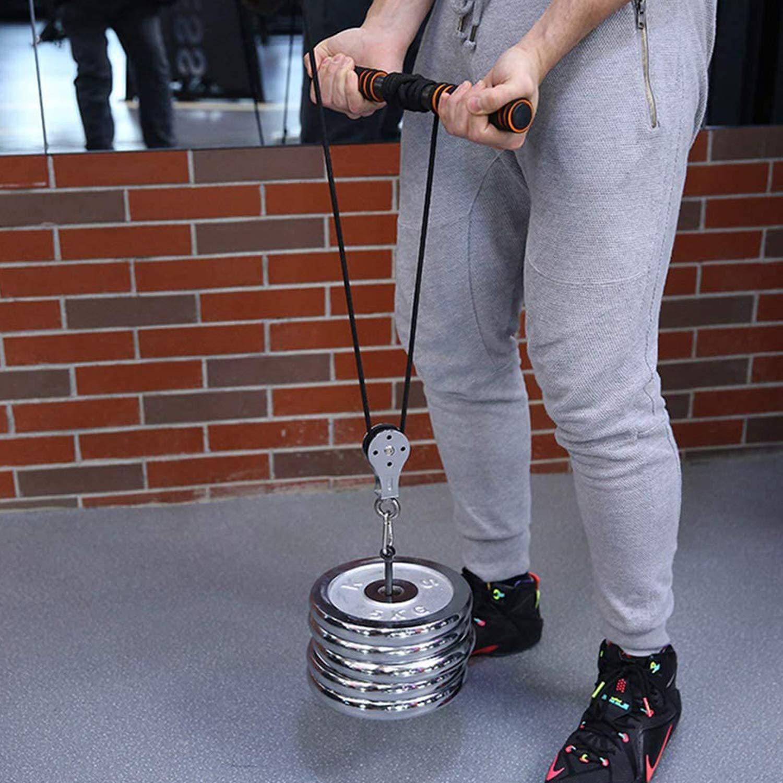 Rueda de polea,Polea bloque equipo de gimnasio en casa para hombres,Rueda colgante de polea silenciosa,Sistema de polea de l/ínea de lavado de acero inoxidable