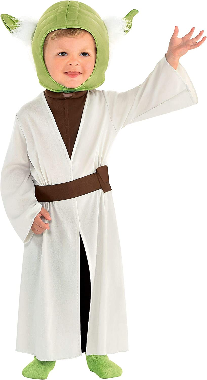 Party City Yoda Halloween Costume for Babies, Star Wars, Includes Accessories