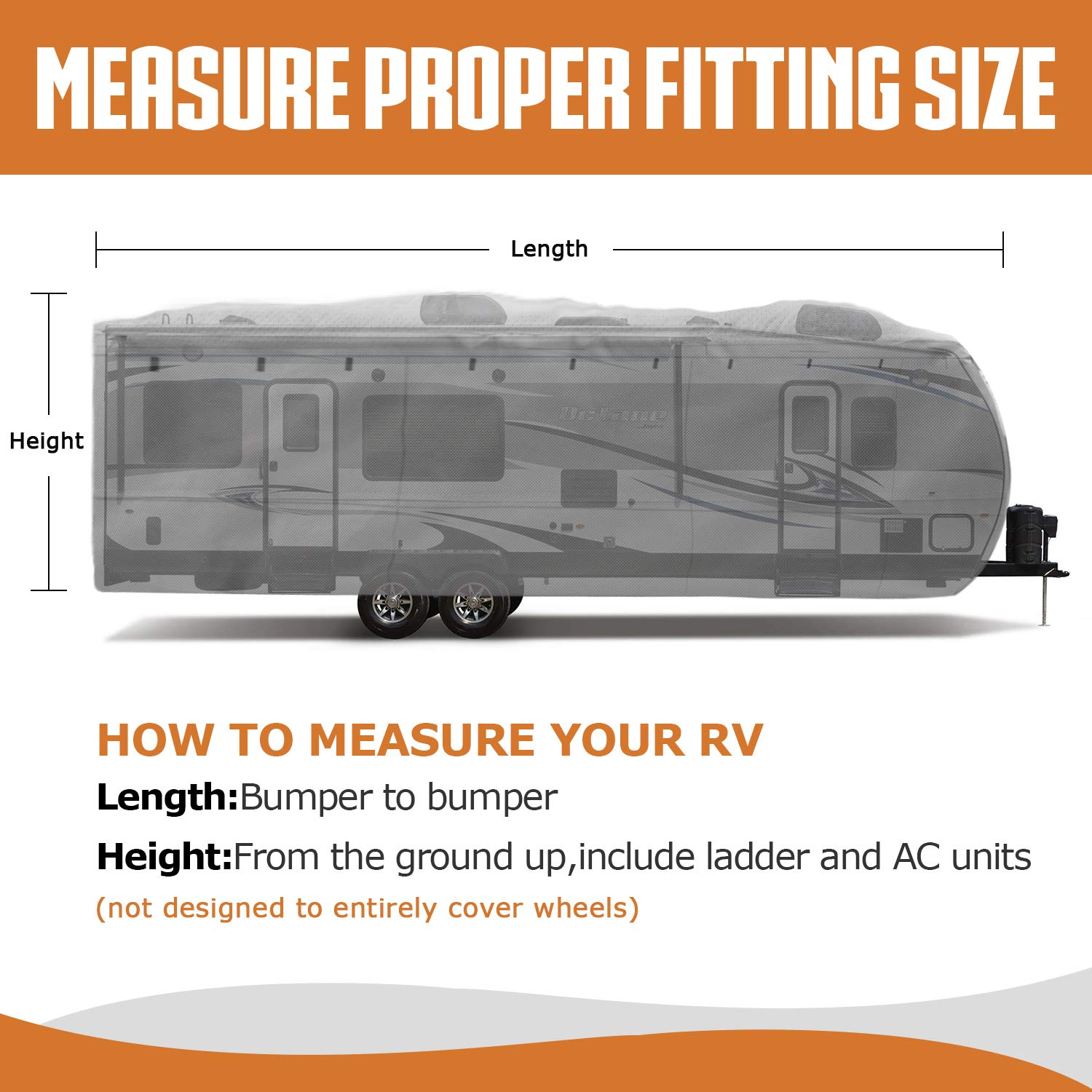 Leader Accessories Travel Trailer RV cover (4 Layer Top/Grey, Fits 27'-30') by Leader Accessories (Image #7)
