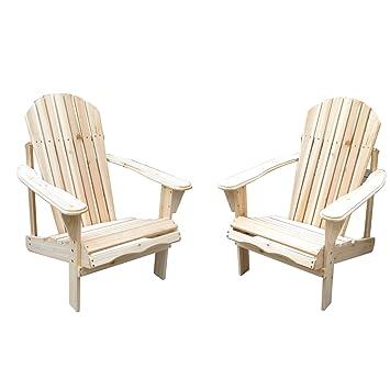Bestmart INC 2PCs Wooden Adirondack Chairs Outdoor Furniture Beach Patio  Deck Garden Décor Seat