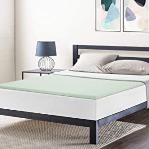 Best Price Mattress Queen Mattress Topper - 1.5 Inch Green Tea Infused Memory Foam Bed Topper Cooling Mattress Pad, Queen Size