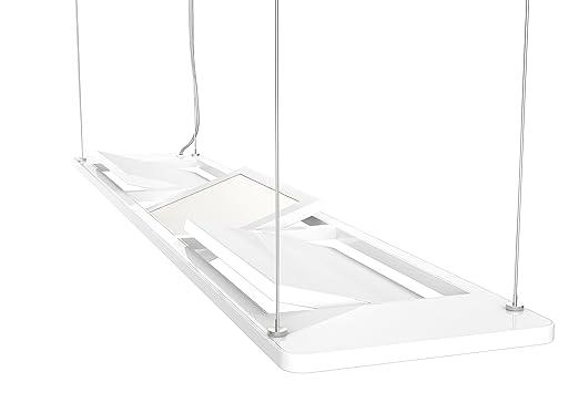 OSRAM LED Pendelleuchte Silento Poco Deckenlampe Mit Innovativer Panel Technologie Hochwertiges Aluminium In Weiss 18W Warmweiss